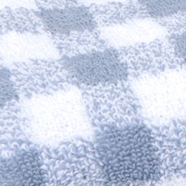 Decorative Bath Towels: Lake Blue MaryJane's Home MJ GINGHAM 3 PC TOWE