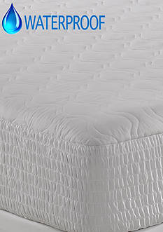 Home Accents® Waterproof 100% Cotton Top Mattress Pad