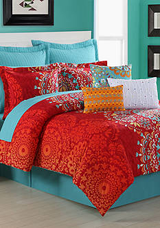 FIESTA COZUMEL F CSETFiesta Cozumel Full Size Comforter Set 100% Cotton