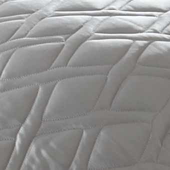 Casual Bedding: Pewter Calvin Klein Camden Small Diamond Queen Bedskirt