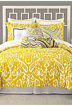 Ikat Queen Comforter Set 92-in. x 96-in. with Shams 20-in. x 26-in.