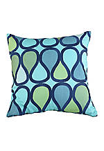 Blue Peacock Turquoise Decorative Pillow 20-in. x 20-in.