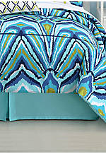 Blue Peacock King Bedskirt with 15-in. drop