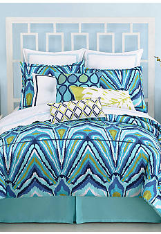 Trina Turk Blue Peacock Bedding Collection