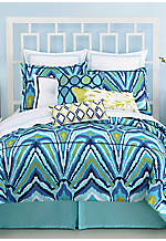 Blue Peacock Turquoise King Comforter Set 110-in. x 96-in. with Shams 21-in. x 37-in.