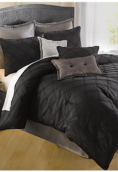Home Accents Pintuck Bedding Collection - Black