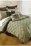 Home Accents® Pintuck Bedding Collection - Sage