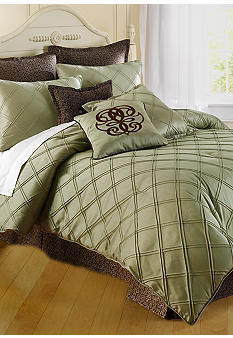 Home Accents Pintuck Bedding Collection - Sage