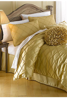 Home Accents Pintuck Bedding Collection - Gold