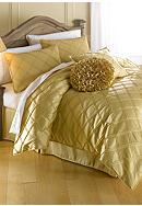 Home Accents® Pintuck Bedding Collection - Gold