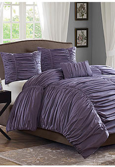 Madison Park Delancey Plum 4-Piece Comforter Set- Online Only