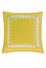 Jaipur Yellow Embroidered Euro Sham 26-in. x 26-in.