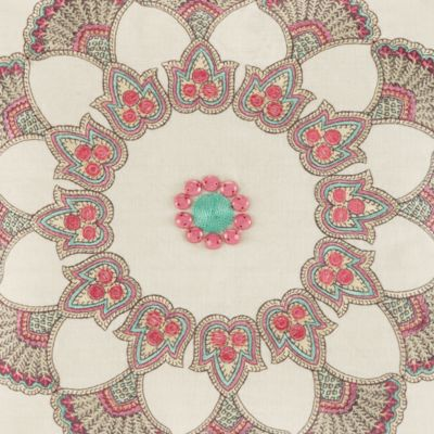 Floral Bedding: Cream/Multi Echo Design™ GUINEVERE SQ DEC 1
