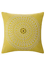 Abstract Palm Cress Green Medallion Pillow 18-in. x 18-in.