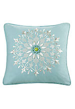 Sardinia Aqua Square Decorative Pillow 18-in. x 18-in.