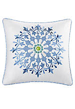 Sardinia White Square Decorative Pillow 18-in. x 18-in.
