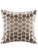 Odyssey Geometric Embroidered Pattern Decorative Pillow 16-in. x 16-in.