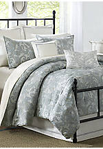 Chelsea Pewter Blue Queen Comforter Set 92-in. x 96-in.