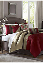 Tradewinds Red King Comforter Set 104-in. x 92-in. with Shams 20-in. x 36-in.
