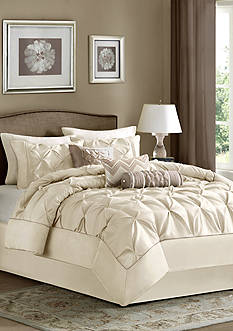 Madison Park LAUREL QN IVORY 7PC