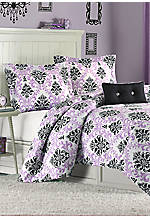 Katelyn Purple Twin Comforter Set 66-in. x 90-in. with Sham 20-in. x 26-in.
