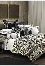 Silk Road White/Black Multi King Comforter Set 110-in. x 96-in.