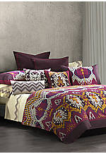 Chapan Fuschia Multi California King Comforter Set 110-in. x 96-in.