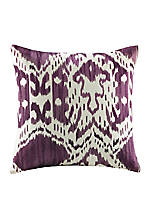 Chapan Purple Ikat Decorative Pillow 18-in. x 18-in.