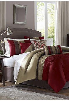Madison Park Tradewinds Red 7-piece Comforter Set - Online Only