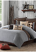 Brownstone Grey Queen Comforter Set 92-in. x 96-in.