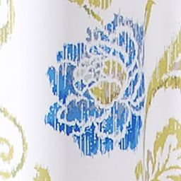 Shower Curtains: White Waverly SHOWER CURTAIN BLUE 72X72