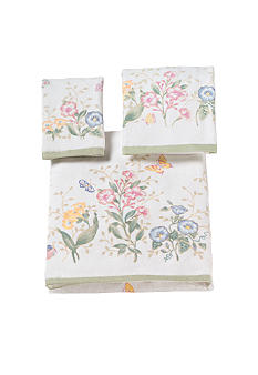 Lenox Butterfly Meadow Towel Collection-Butterfly Print