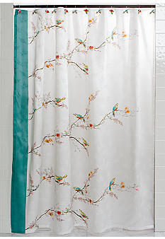 Lenox Chirp Shower Curtain and Hooks - Sold Separately