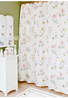 Lenox Butterfly Meadow Shower Curtain and Hooks - Sold Separately