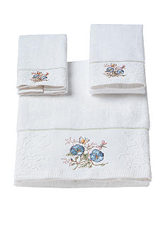 Lenox Butterfly Meadow Towel Collection-Blue Flower