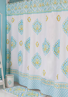 Dena Home™ Diamond Shower Curtain and Hooks - Online Only