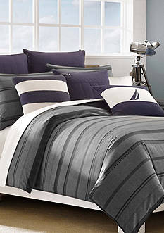 Nautica Sebec Gray Twin Comforter Set