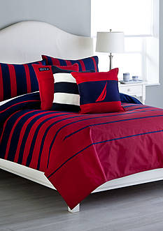 Nautica DILLON RED KING DUVET SET