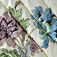 Waverly Bed: Cream Waverly CCHIRP QLT SET LRKSPR