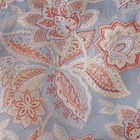 Floral Bedding: Red Waverly TREASTROVE DRAPERY PAIR