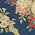 Floral Bedding: Dark Blue Waverly SANC ROSE CSET HRTG BLUE