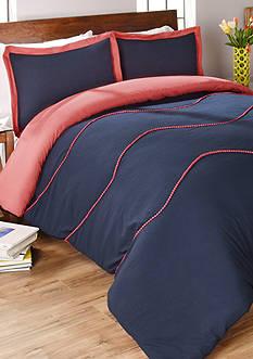 Vue Sapphire 3 Piece Comforter Set in Navy
