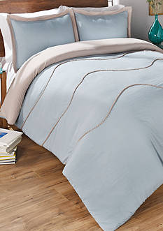 Vue Sapphire 3 Piece Comforter Set in Mushroom