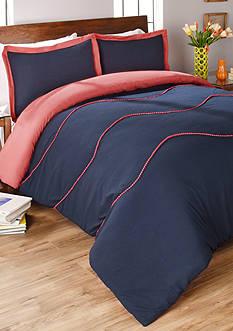 Vue Sapphire 2 Piece Comforter Set - Navy