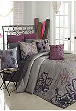 Anastasia Grey Multi Queen 3-Pc. Comforter Set 90-in. x 96-in.