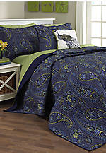 Caftan Paisley Full/Queen Quilt Set - 88-in. x 90-in.