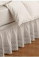 Ellery Homestyles EasyFit™ Wrap Around Eyelet Ruffled Bed Skirt - Online Only