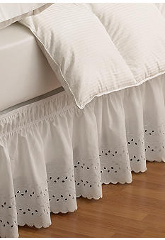 Ellery Homestyles EasyFit Wrap Around Eyelet Ruffled Bed Skirt - Online Only