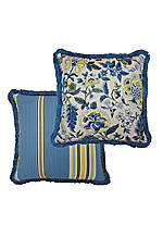 Imperial Dress Porcelain Two-Sided Pillow w/Fringe 18-in. x 18-in.