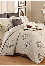 Scripted Embroidered Writing Decorative Pillow 14-in. x 20-in.